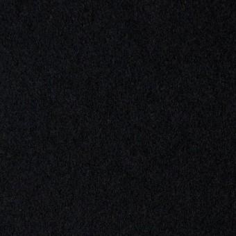 ウール×無地(ブラック)×メルトン