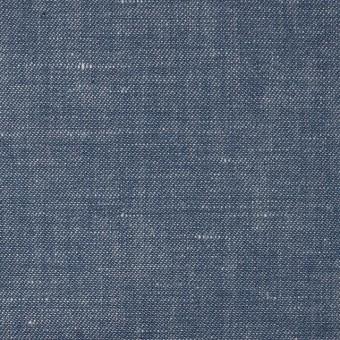 リネン&コットン×無地(ブルー)×サージシャンブレー_全3色