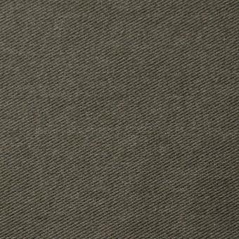 コットン&ポリエステル混×無地(カーキグリーン)×デニムライクニット_全10色