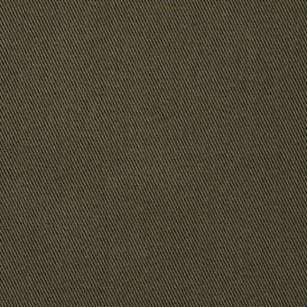 コットン&ポリウレタン×無地(カーキグリーン)×チノクロス・ストレッチ_全4色