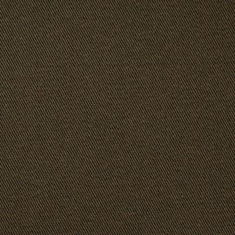 コットン&ポリウレタン×無地(カーキブラウン)×チノクロス・ストレッチ_全4色