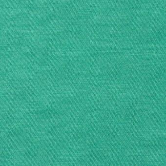 コットン×無地(エメラルドグリーン)×天竺ニット_全10色