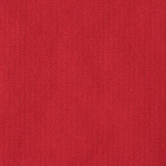 コットン×無地(レッド)×ヘリンボーンワッシャー_全3色