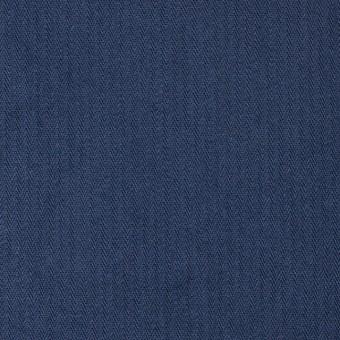 コットン×無地(ネイビーブルー)×ヘリンボーンワッシャー_全3色