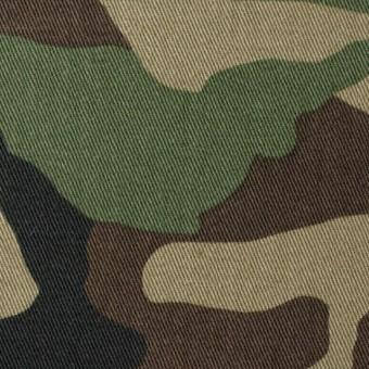コットン×迷彩(カーキグリーン&ダークブラウン)×チノクロス