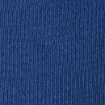 コットン×無地(ブルー)×裏毛ニット