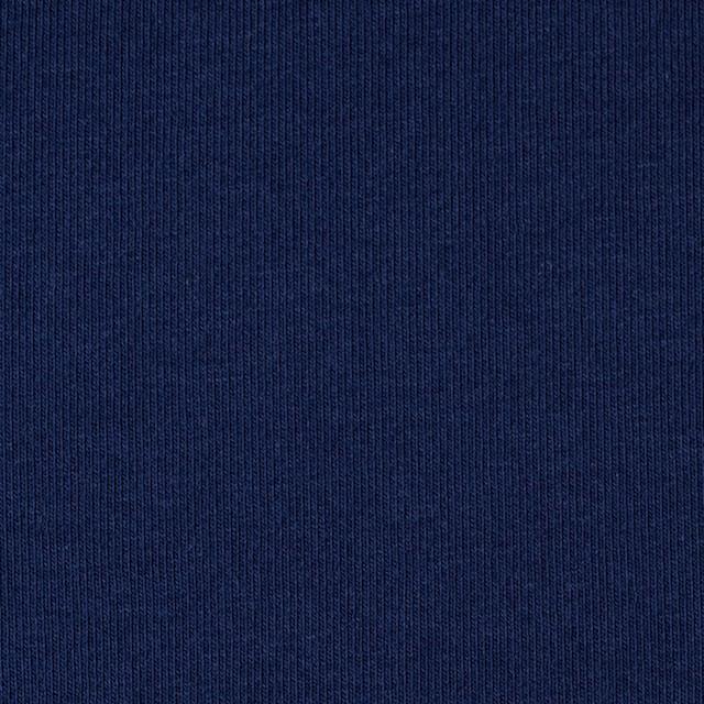 コットン&ポリウレタン×無地(ダークネイビー)×裏毛ニット イメージ1