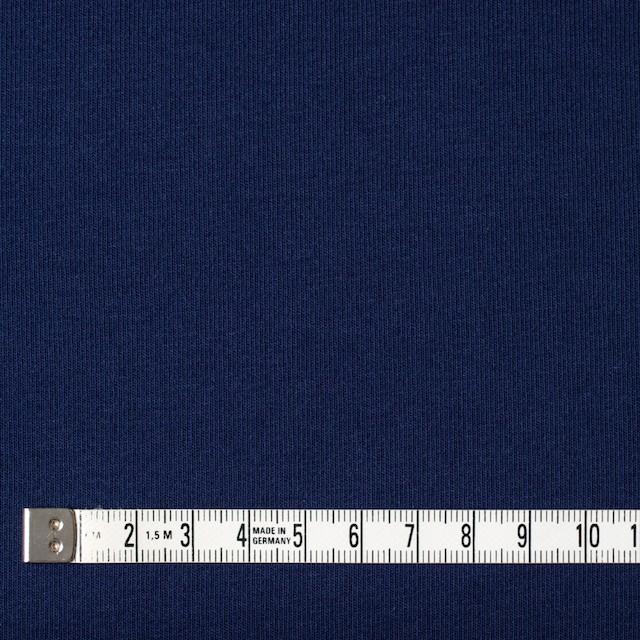 コットン&ポリウレタン×無地(ダークネイビー)×裏毛ニット イメージ4