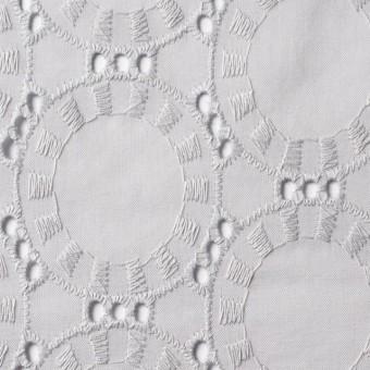 コットン×オーバル(ライトグレー)×ローン刺繍_全10色