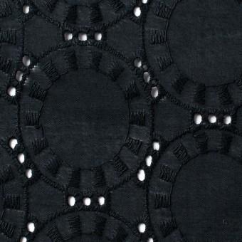 コットン×オーバル(ブラック)×ローン刺繍_全10色