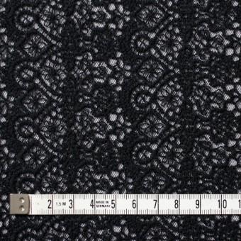 ナイロン×幾何学模様(ブラック)×チュール刺繍_全5色 サムネイル4