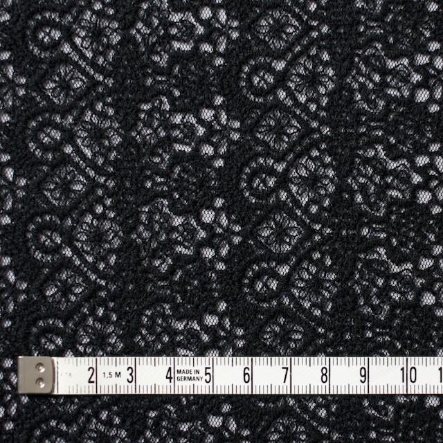 ナイロン×幾何学模様(ブラック)×チュール刺繍_全5色 イメージ4