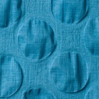 コットン×サークル(ターコイズブルー)×ローンリップル_全5色