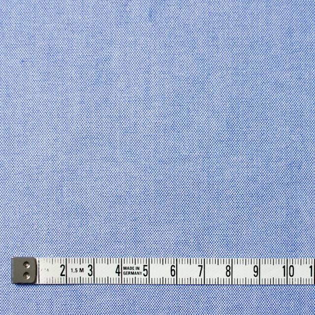 コットン×無地(サックス)×オックスフォード・ワッシャー_全4色 イメージ4