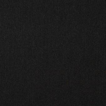 コットン&ウール×無地(ブラック)×ソフトギャバジン
