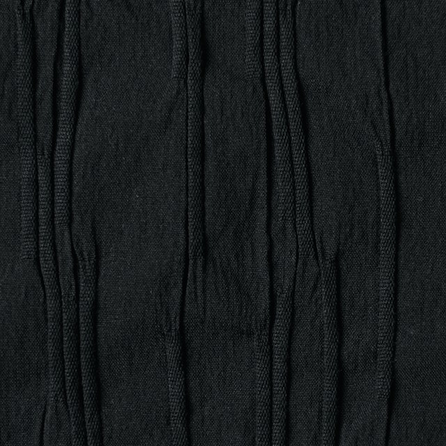 コットン&ナイロン混×無地(ブラック)×タテタック イメージ1