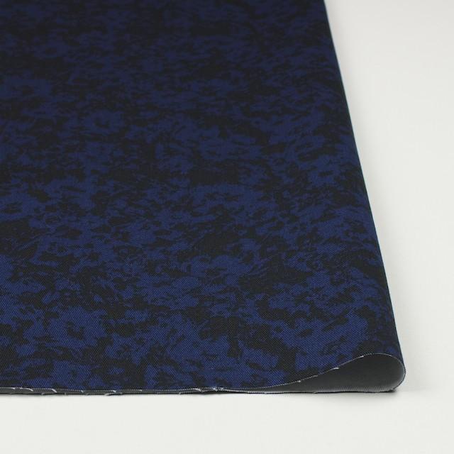 コットン&ポリウレタン×幾何学模様(ネイビー&ブラック)×チノクロス・ストレッチ イメージ3