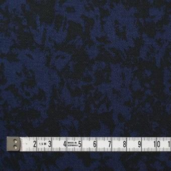 コットン&ポリウレタン×幾何学模様(ネイビー&ブラック)×チノクロス・ストレッチ サムネイル4