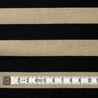 ウール×ボーダー(ベージュ&ブラック)×天竺ニット サムネイル4