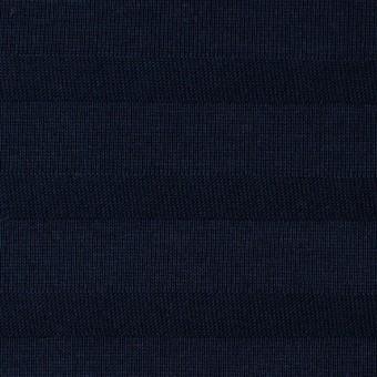 コットン×ボーダー(ダークネイビー)×天竺ニット_全2色 サムネイル1