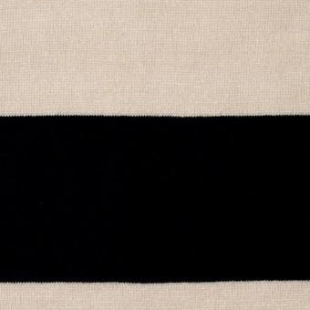 コットン×ボーダー(キナリ&ブラック)×天竺ニット_全2色