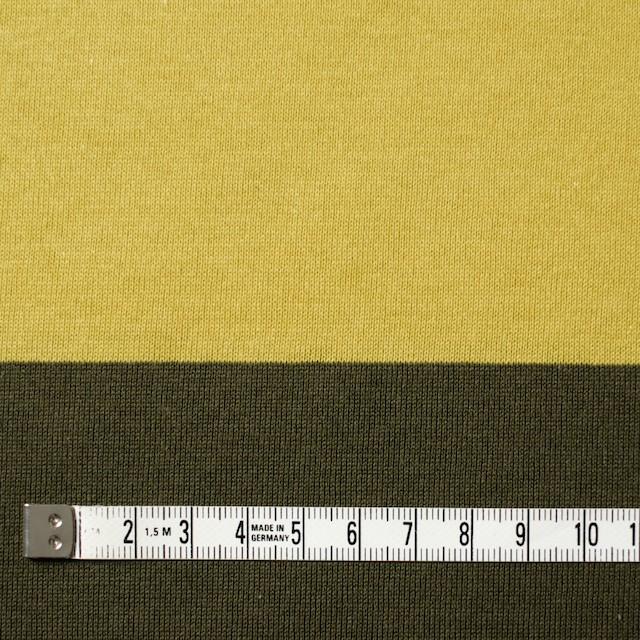 コットン×ボーダー(バナナ&カーキ)×天竺ニット イメージ4