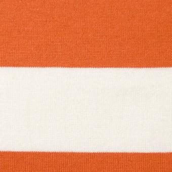 コットン×ボーダー(オレンジ&ネイビー、グレー)×天竺ニット_全3色