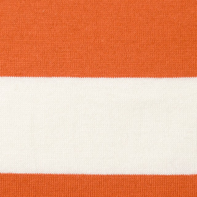 コットン×ボーダー(オレンジ&ネイビー、グレー)×天竺ニット_全3色 イメージ1
