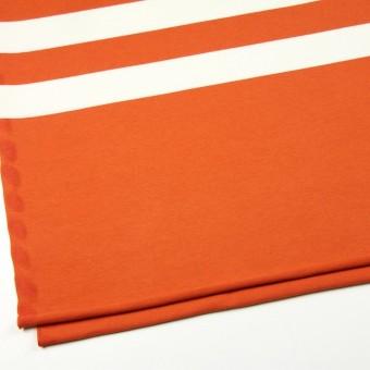 コットン×ボーダー(オレンジ&ネイビー、グレー)×天竺ニット_全3色 サムネイル2