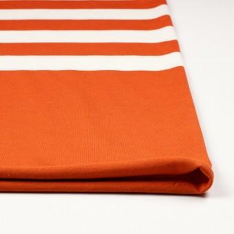 コットン×ボーダー(オレンジ&ネイビー、グレー)×天竺ニット_全3色 サムネイル3