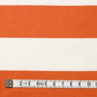 コットン×ボーダー(オレンジ&ネイビー、グレー)×天竺ニット_全3色 サムネイル4