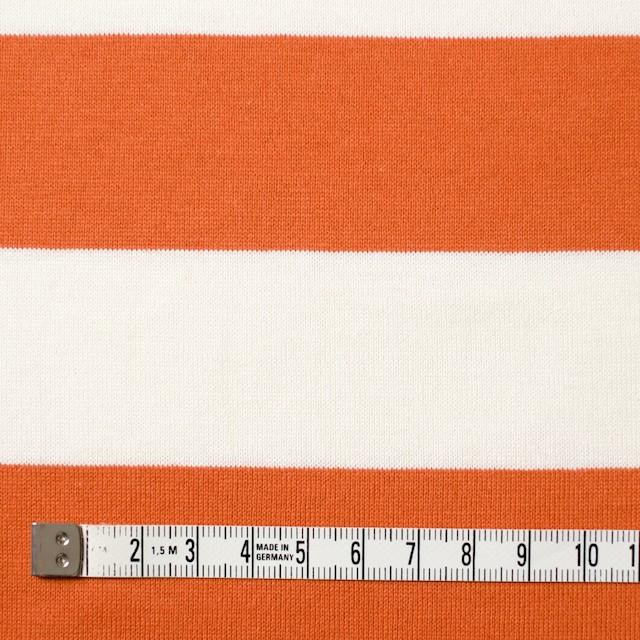 コットン×ボーダー(オレンジ&ネイビー、グレー)×天竺ニット_全3色 イメージ4