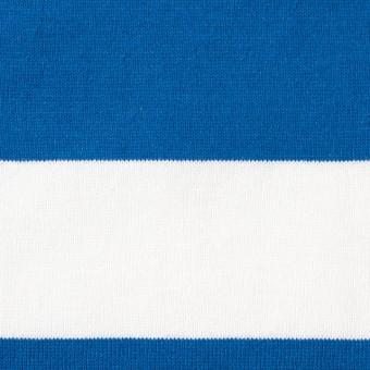 コットン×ボーダー(スカイブルー&ネイビー、グレー)×天竺ニット_全3色 サムネイル1