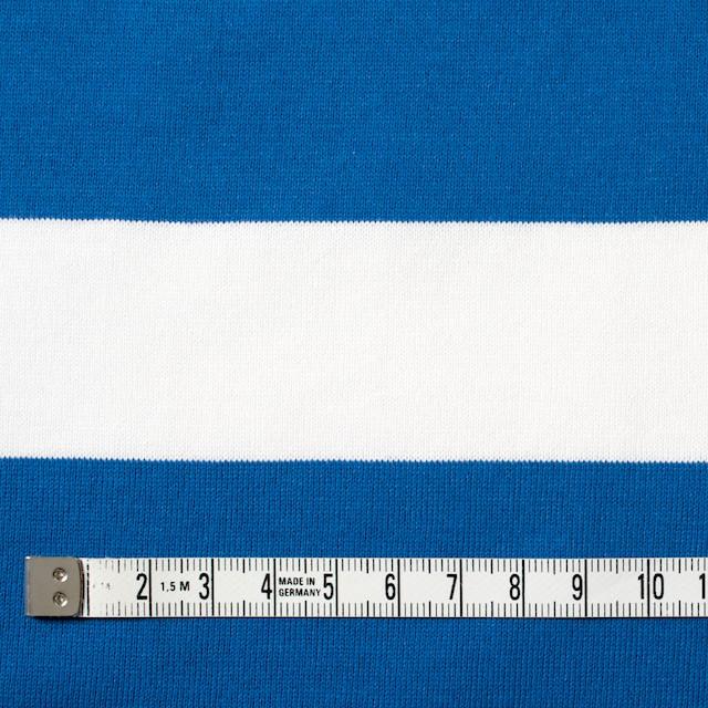 コットン×ボーダー(スカイブルー&ネイビー、グレー)×天竺ニット_全3色 イメージ4