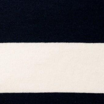 コットン×ボーダー(ネイビー&クリーム、グレー)×天竺ニット_全3色