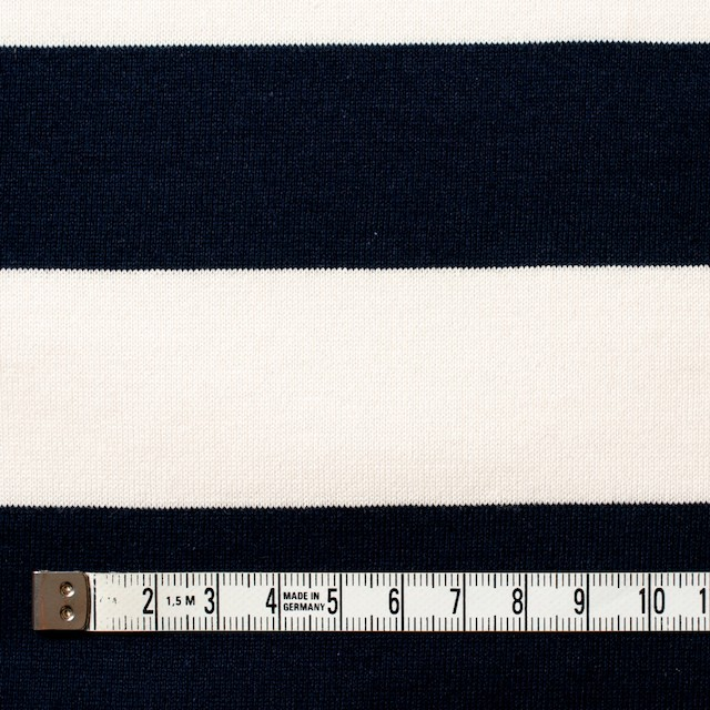 コットン×ボーダー(ネイビー&クリーム、グレー)×天竺ニット_全3色 イメージ4