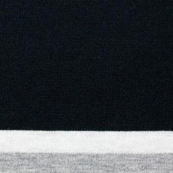コットン×ボーダー(グレーミックス)×天竺ニット_全3色_パネル