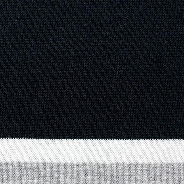 コットン×ボーダー(グレーミックス)×天竺ニット_全3色_パネル イメージ1