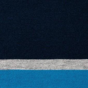 コットン×ボーダー(ブルーミックス)×天竺ニット_全3色_パネル