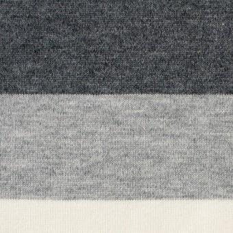 コットン×ボーダー(グレーミックス)×天竺ニット_全2色