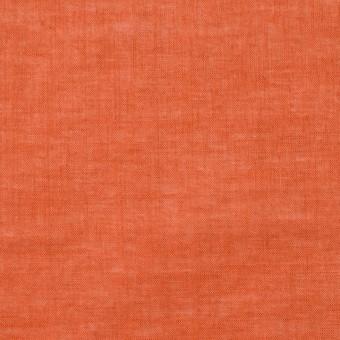 コットン&リネン×無地(オレンジ)×ボイル_全6色
