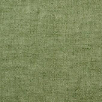 コットン&リネン×無地(モスグリーン)×ボイル_全6色