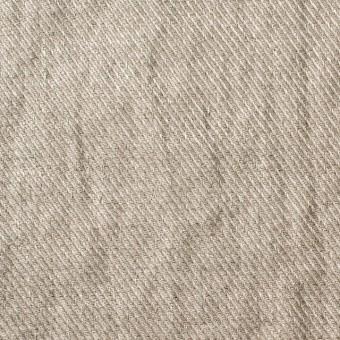 リネン×無地(グレイッシュベージュ)×サージ_全2色