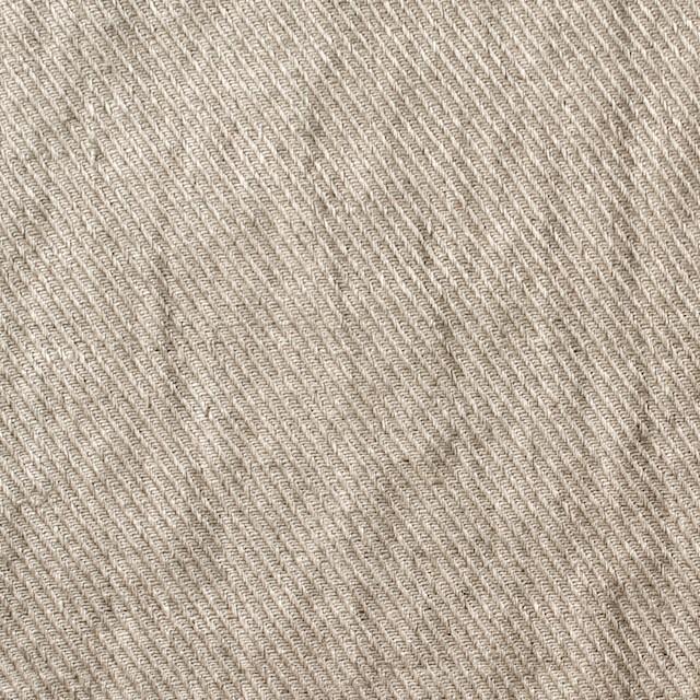 リネン×無地(グレイッシュベージュ)×サージ_全2色 イメージ1