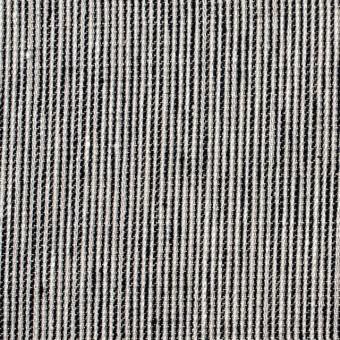 リネン&コットン×ストライプ(ダークネイビー)×コード織