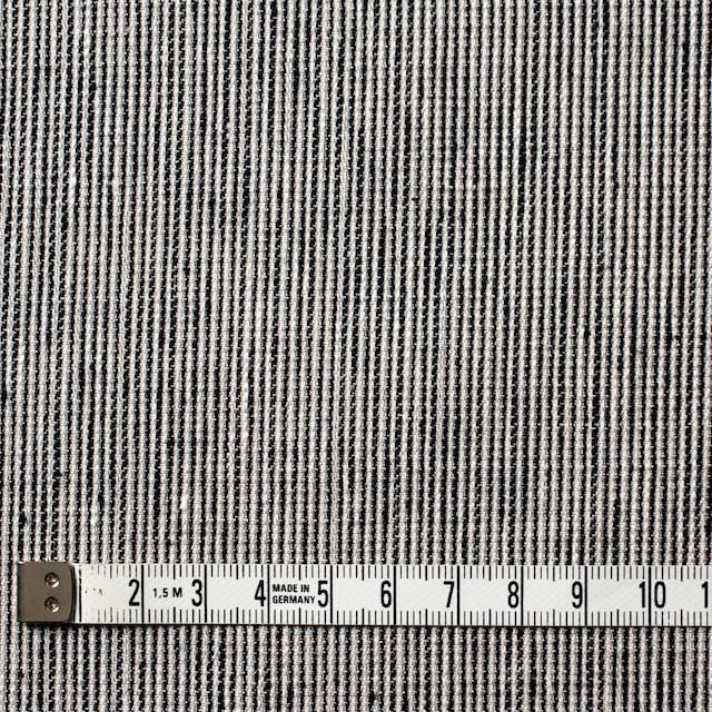 リネン&コットン×ストライプ(ダークネイビー)×コード織 イメージ4