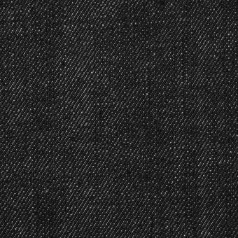 コットン&ポリウレタン×無地(チャコールブラック)×デニムストレッチ