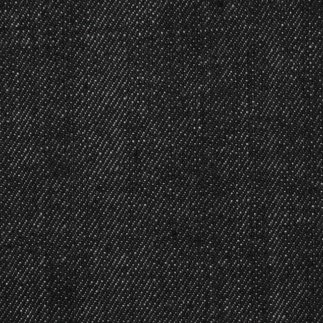 コットン&ポリウレタン×無地(チャコールブラック)×デニムストレッチ イメージ1