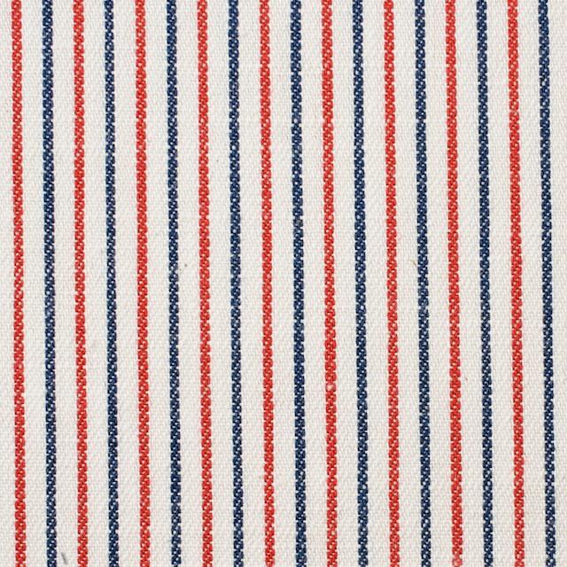 コットン×ストライプ(トリコロール)×かわり織 イメージ1
