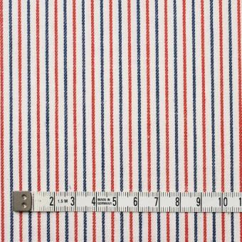 コットン×ストライプ(トリコロール)×かわり織 サムネイル4
